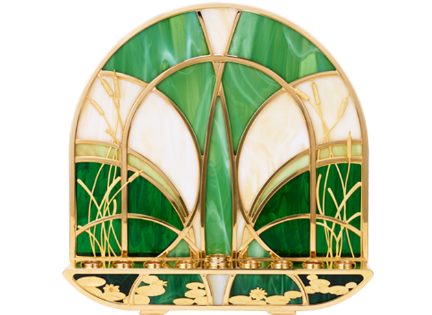 Gold Plated Vitrage Hanukiah