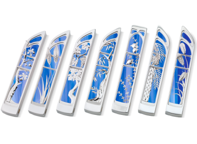 7 Species Mezuzah Set